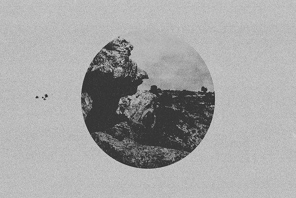 Grainy, high contrast photo manipulations by Melih Dönmezer #bleaq #photography #photomanipulation #bw #contrast #grain #dark #circle
