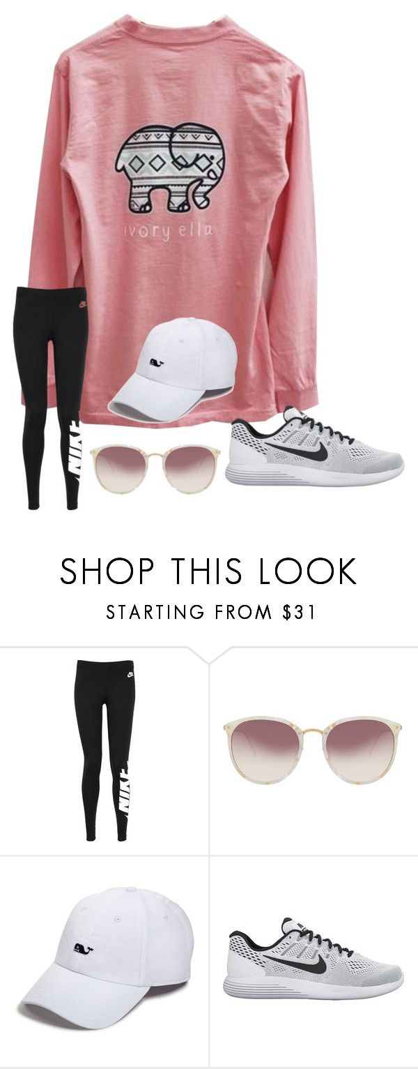 """watching ouat"" by kellycarrick ❤ liked on Polyvore featuring Ivory Ella, NIKE, Linda Farrow and Vineyard Vines"