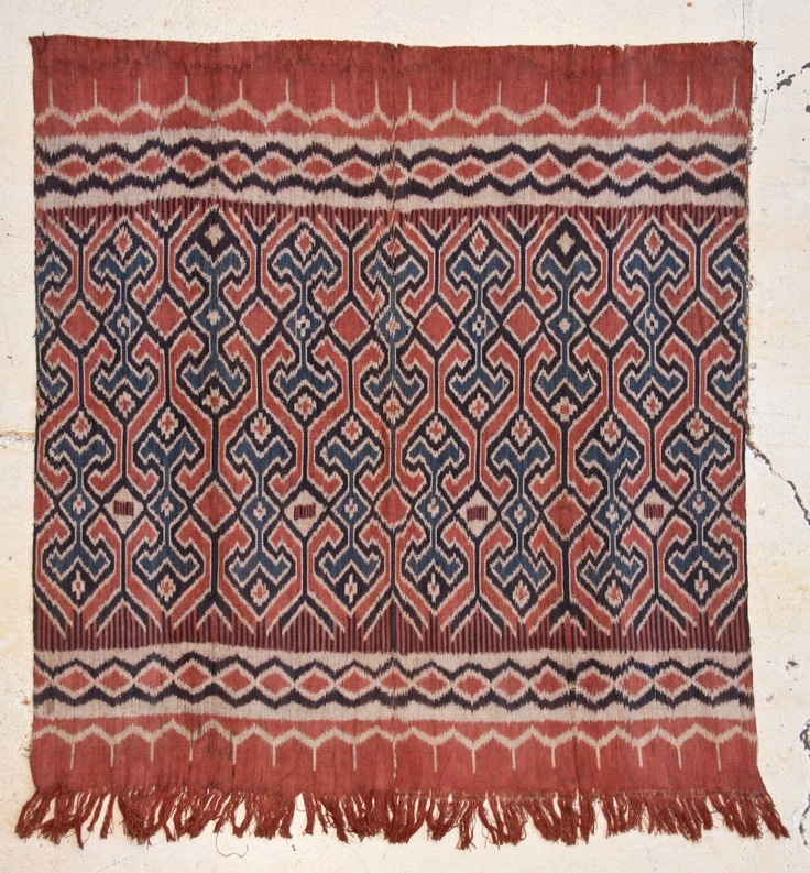 Toraja Ikat, hand spun cotton and natural dyes, Indonesia, early 20th c.