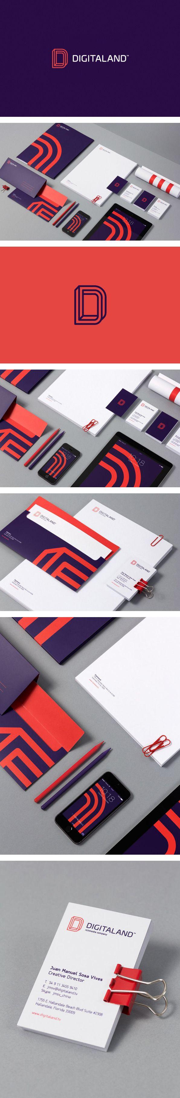Digitaland logo/identity by for brands