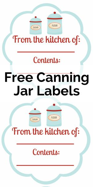 Free Printable - Food Labels and Canning Labels