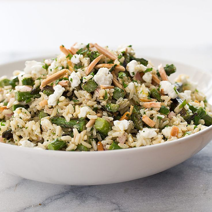 side dish, try our Brown Rice Salad with Asparagus, Goat Cheese ...