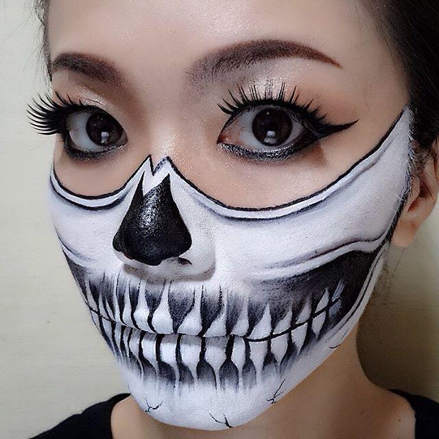 inspired by @chrisspy ❤️ #facepaint #zombiemakeup #メイクアップ #bodyart #コスプレ #bodypaint #mua #makeuplook #コスプレ #二次会 #Halloweenmakeup #ゾンビメイク #specialmakeup #makeup #ボディアート #lipart #パーティー #ハロウィン #和歌山市 #Halloween #スカル #ガイコツメイク #骸骨 #ホラーナイト #facepainter #フェイスペイント #ハロウィンメイク #仮装 #mehronmakeup #イベント