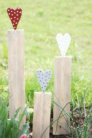 DIY, Gartenschild aus Holz mit Herz