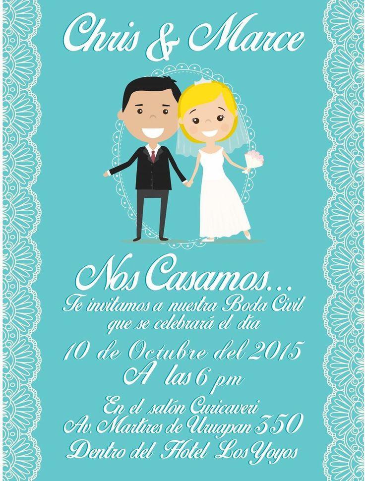 Invitación para la boda al civil
