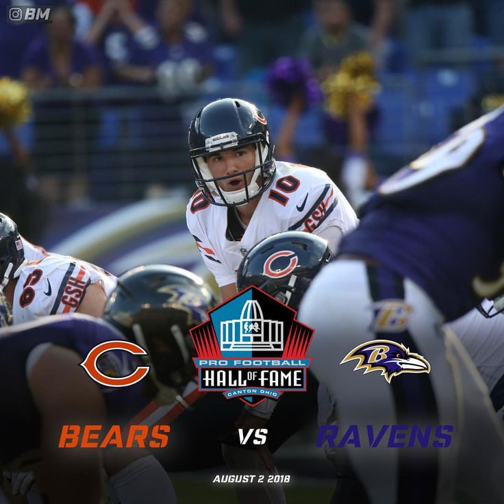 """543 Likes, 14 Comments - BEARS MONSTERS (@bearsmonsters) on Instagram: """"The #Bears and #Ravens are going to kickoff the NFL Preseason in Canton on August 2nd. This is the…"""""""