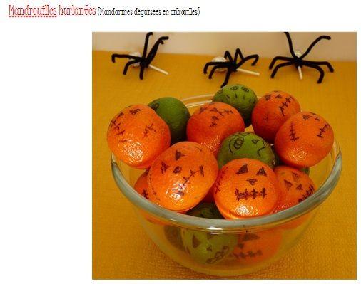 Bulbette repas d 39 anniversaire enfant halloween mandarines bulbette mes r alisations - Repas anniversaire enfant ...