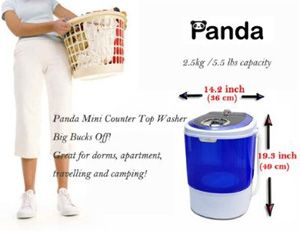 Panda Portable Washer - a versatile mini washing machine, this washing machine is perfect for those of you who live in an apartment. Apartment washer and dryer is indeed a lot to look for because by having a washer dryer at the same time you can save costs and time. Panda Portable Washer is the perfect washing machine.