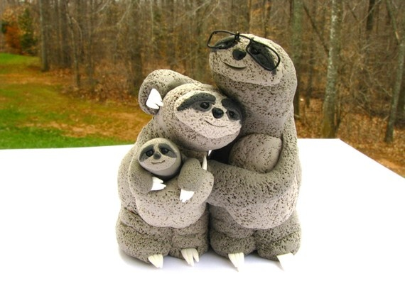 Sloth Wedding Cake Topper Nicole S Squee Pinterest And Animal