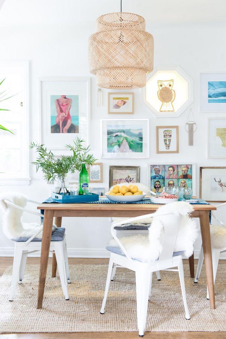 Boho Beach Bungalow Dining Room Reveal