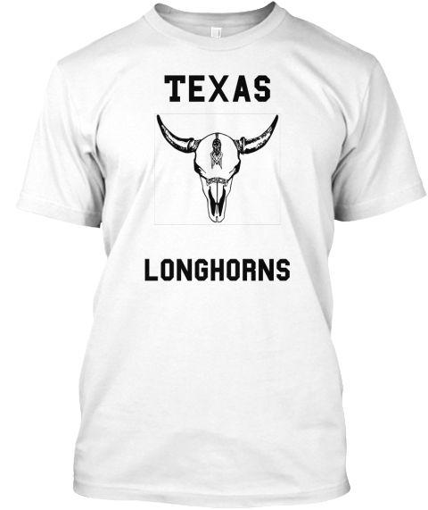Texas Longhorns White T-Shirt Front