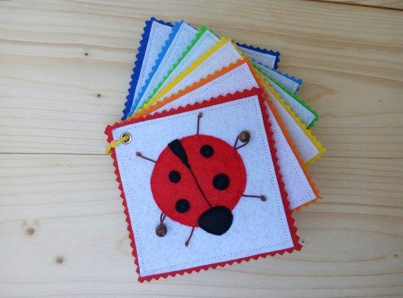 Mini Quiet Book Pocket Felt Quiet Book Baby от GanniQuietBooks
