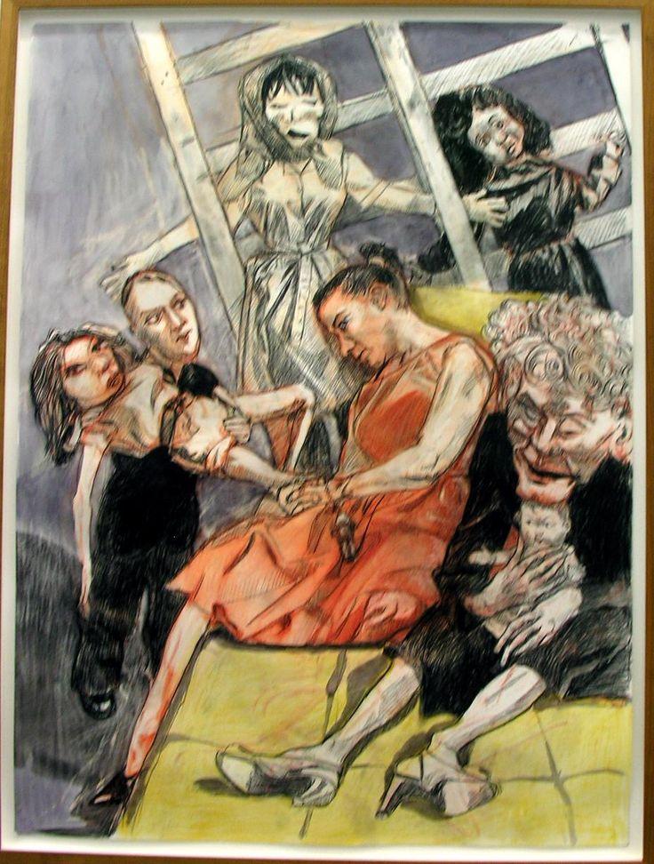 Paula Rego, Human Cargo (triptych), 2007