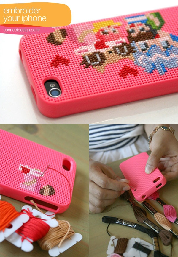 embroider your iPhone case...
