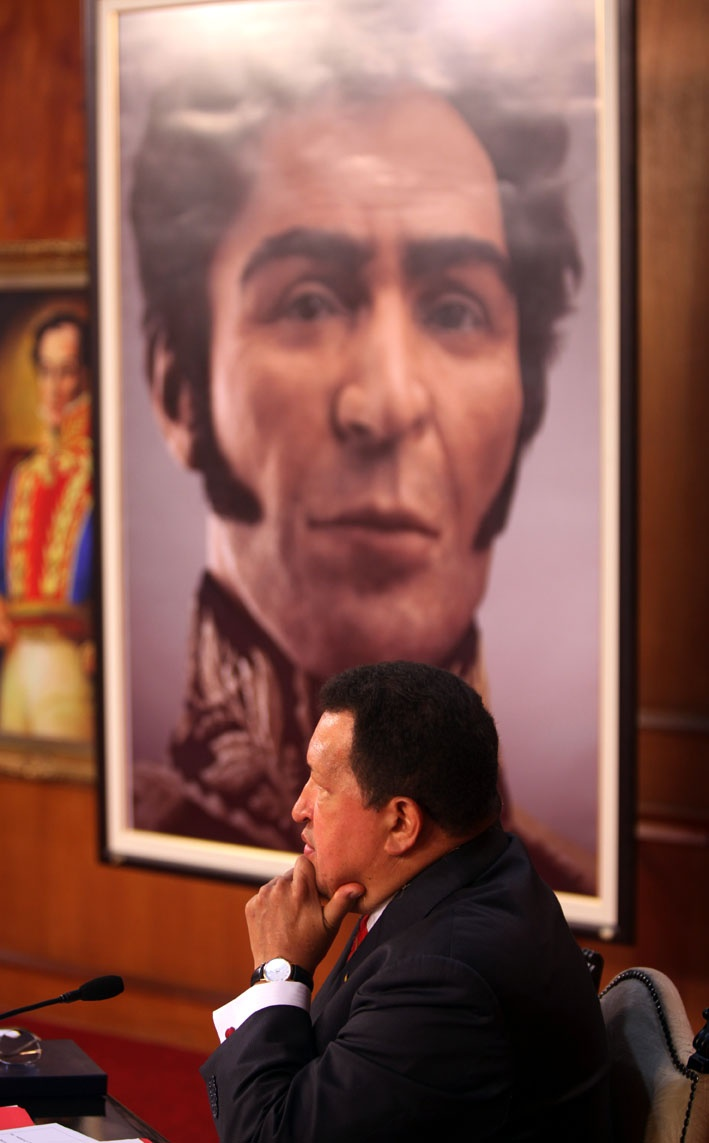 (+FOTOS) Chávez: ¡Viva Bolívar! ¡He aquí su rostro!