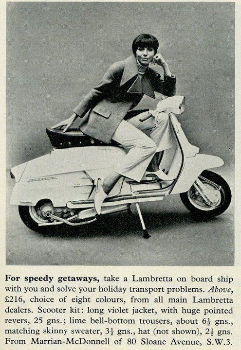 #Lambretta SX200 in 60's UK fashion magazine