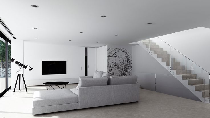 Javea House, interior, living room