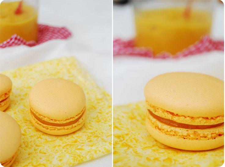Macarons passion mangue