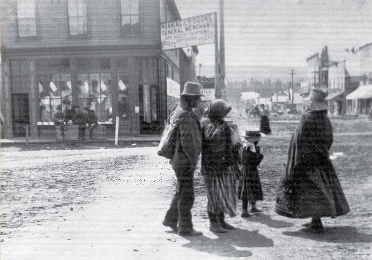 Kootenay Indians on Baker St. probably at corner of 9th Ave. (circa 1900).