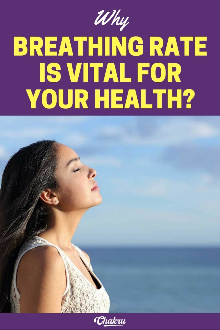 Why breathing rate is vital to ones health.