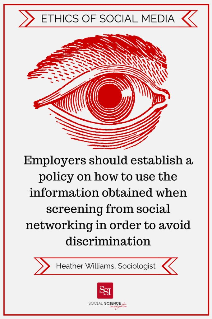 examining the extent of the scope of employers say on how employees use their personal social media Therefore there is a need for legislation to set clearer guidelines on when and to what extent personal information is to be protected over the last few decades the federal government has enacted a number of such laws.