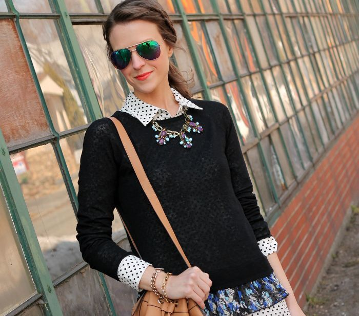 plain black sweater
