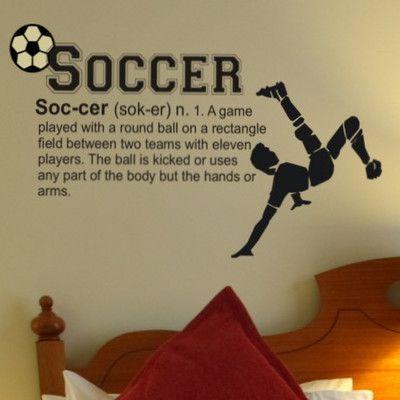 Alphabet Garden Designs Soccer Definition Wall Decal | AllModern