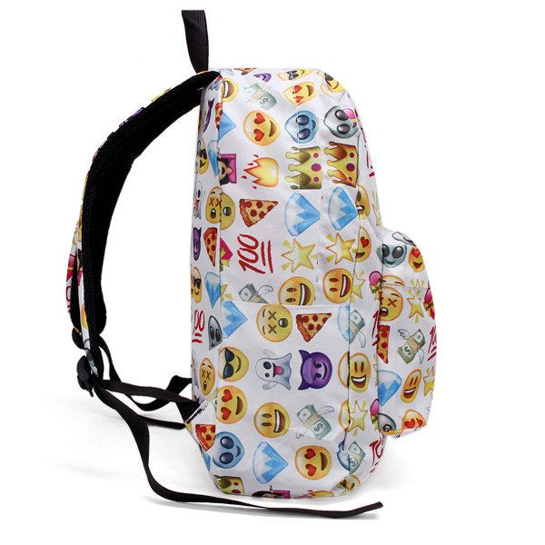 Women Canvas Emoji Backpack Girls Cute Rucksack Students School Book Bags - US$11.69