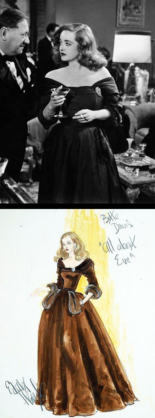 Bette Davis in 'All About Eve' (1950). Costume Designer: Edith Head