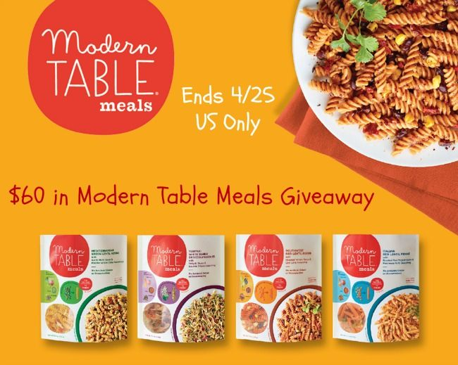 Modern Table Meals Giveaway Ends 4 25 Us Only Meals Modern Table Recipes