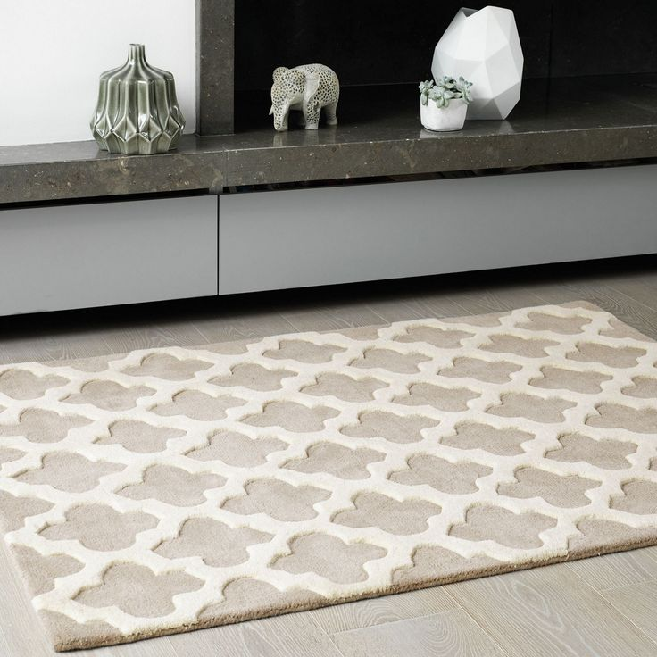 Debenhams beige wool 39 artisan 39 rug at sitting room - Tapis graphique noir et blanc ...