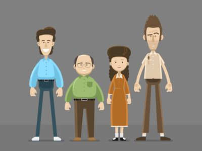 Seinfeld Character Designs