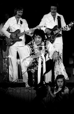 Elvis with James and John in Concert at the Nassau Coliseum, June 22, 1973