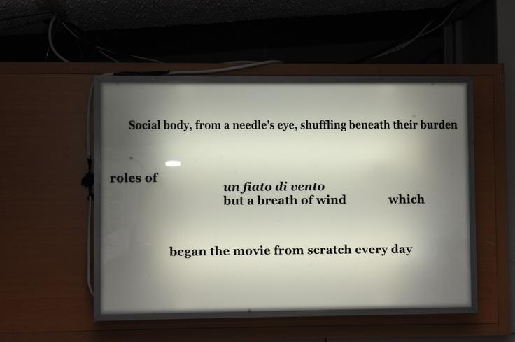 "Tom McCarthy Nine original texts Installation view, 2nd Athens Biennale 2009 ""Heaven"""