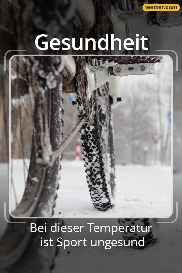 Radfahren Im Winter Bei Dieser Temperatur Ist Sport Ungesund