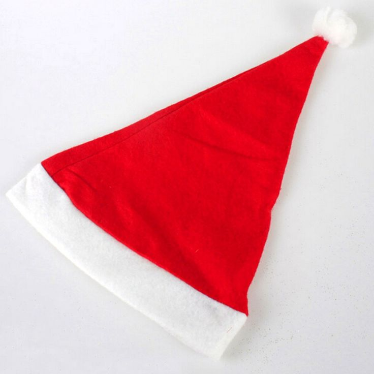 10pcs/lot  Christmas Ornaments Adult Ordinary Christmas hats Santa hats Children cap for Chiristmas party Props Free Shipping