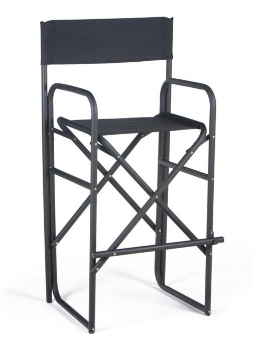 Tall Directors Chair Folding Camping Indoor Outdoor