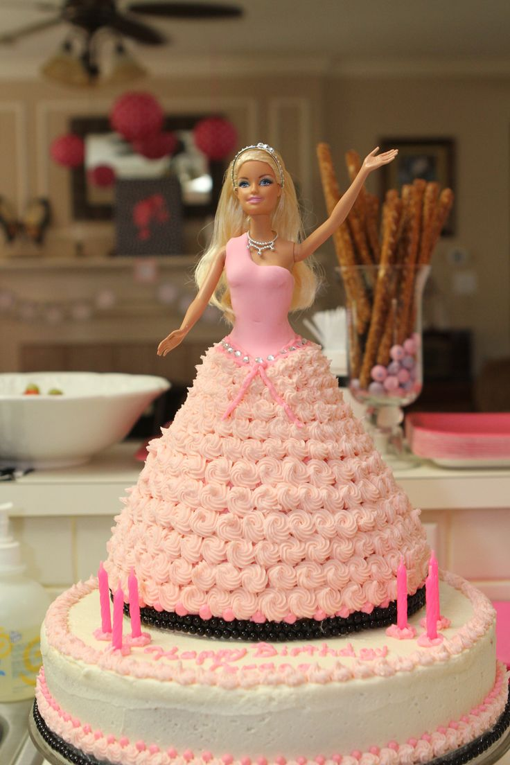 Birthday Cake Barbie Doll Plastic Cake