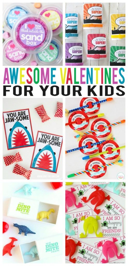 Awesome Valentines For Kids. So many fun ideas included in this post!