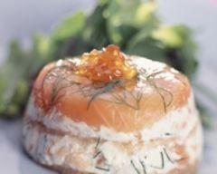 Petites terrines de saumon au chèvre (facile, rapide) - Une recette CuisineAZ