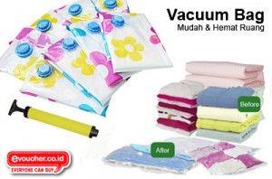 Permudah Dirimu Membawa & Menyimpan Pakaian, Boneka Dll Dengan Vacuum Bag Hanya Rp.129,000 - www.evoucher.co.id #Promo #Diskon #Jual  Klik > http://evoucher.co.id/deal/April-2014-Vacuum-Bag  Vacuum Bag selain berguna untuk menyimpan barang - barangmu, juga bisa untuk packing pakaian saat EVFriends travel liburan. isi kopermu bisa berkurang hingga 75% jadi bisa muat lebih banyakkan. jadi tunggu apalagi beli sebelum habis. LIMITED STOCK  Pengiriman Mulai 2014-04-21