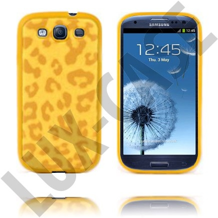 Leopard (Gul) Samsung Galaxy S3 Deksel
