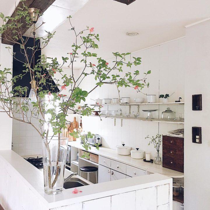 飾るだけで今っぽい 枝もの のグリーンを取り入れたインテリア実例