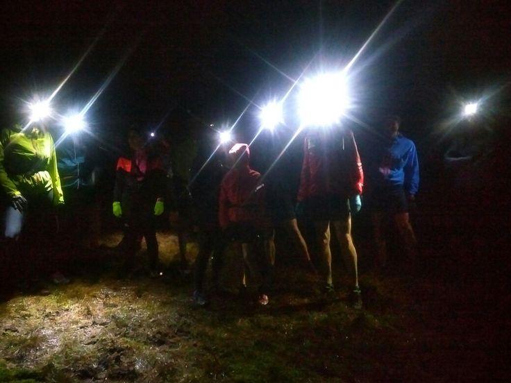 Night running on the fells around Pendle