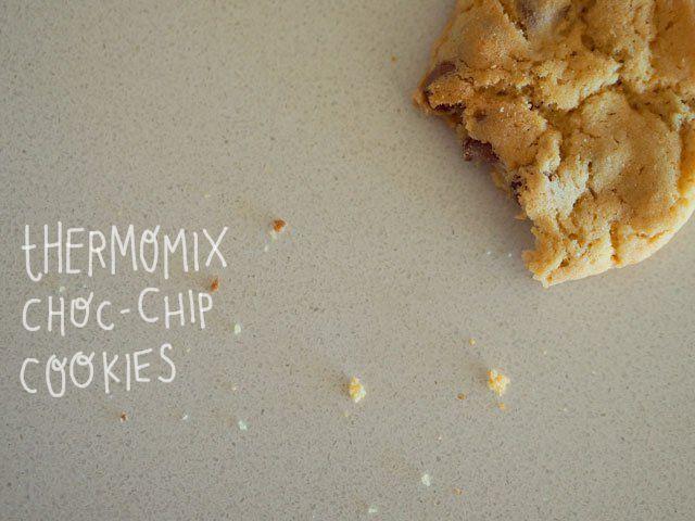 Pretty darn good Thermomix choc-chip cookies - like subway - FatMumSlim