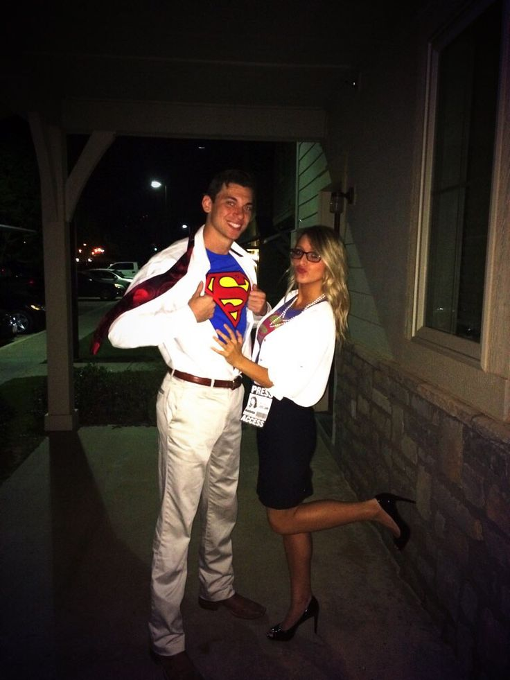 easy couple costume: Clark Kent and Lois Lane