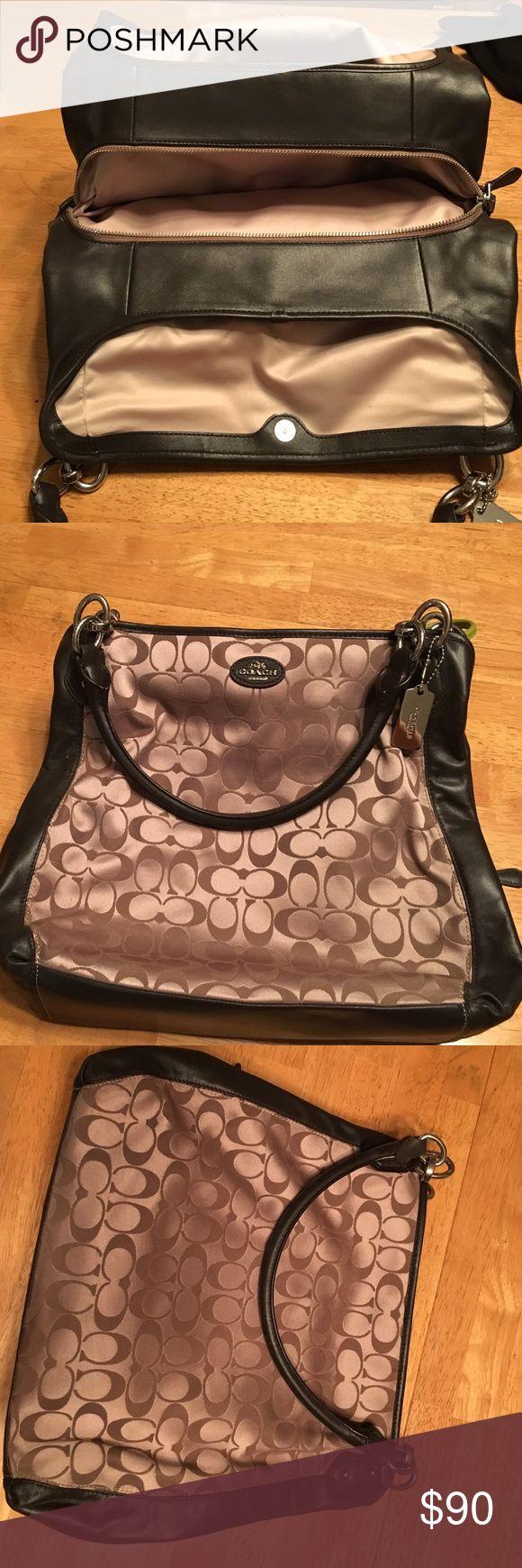 Coach hobo bag Beautiful dark and light brown coach hobo bag. Used once. Coach Bags Hobos