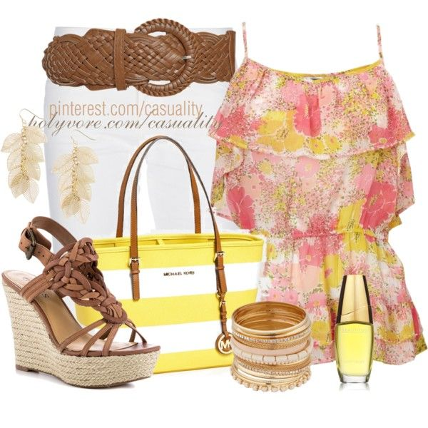 \u0026quot;Wedges, Cami Top, \u0026amp; MK Tote\u0026quot; by casuality on Polyvore. \u0026quot;
