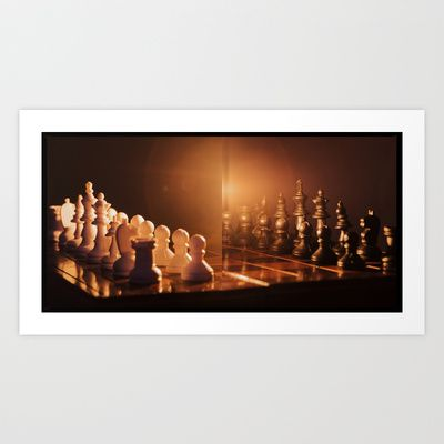 Black vs White Art Print by marialivia16 - $14.04