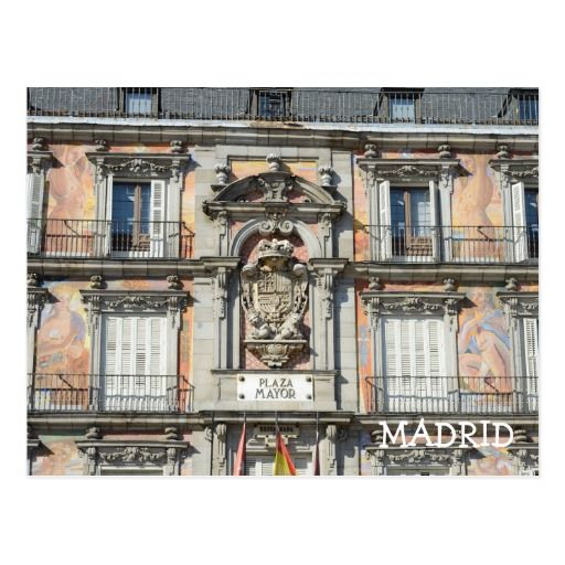 Plaza Mayor, Madrid Postcard